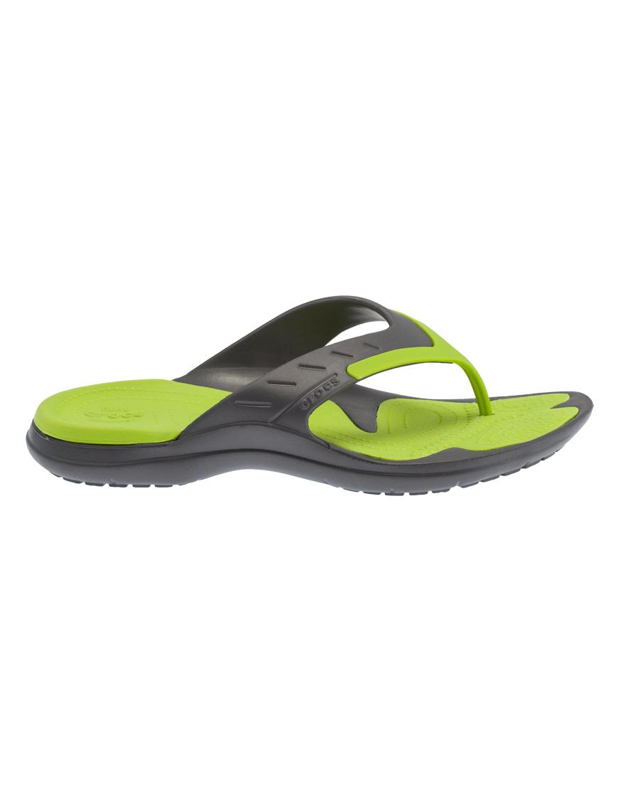 cd5cf5cd1e7 Crocs Modi Sport Flip Ανδρικές Ανατομικές Σαγιονάρες Graphite/Volt Green  202636 1690012
