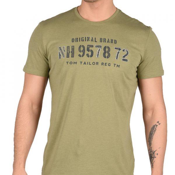 Tom Tailor T-Shirt Ανδρικό Felt Green 10554750010 1684235 3cfb3b1513f