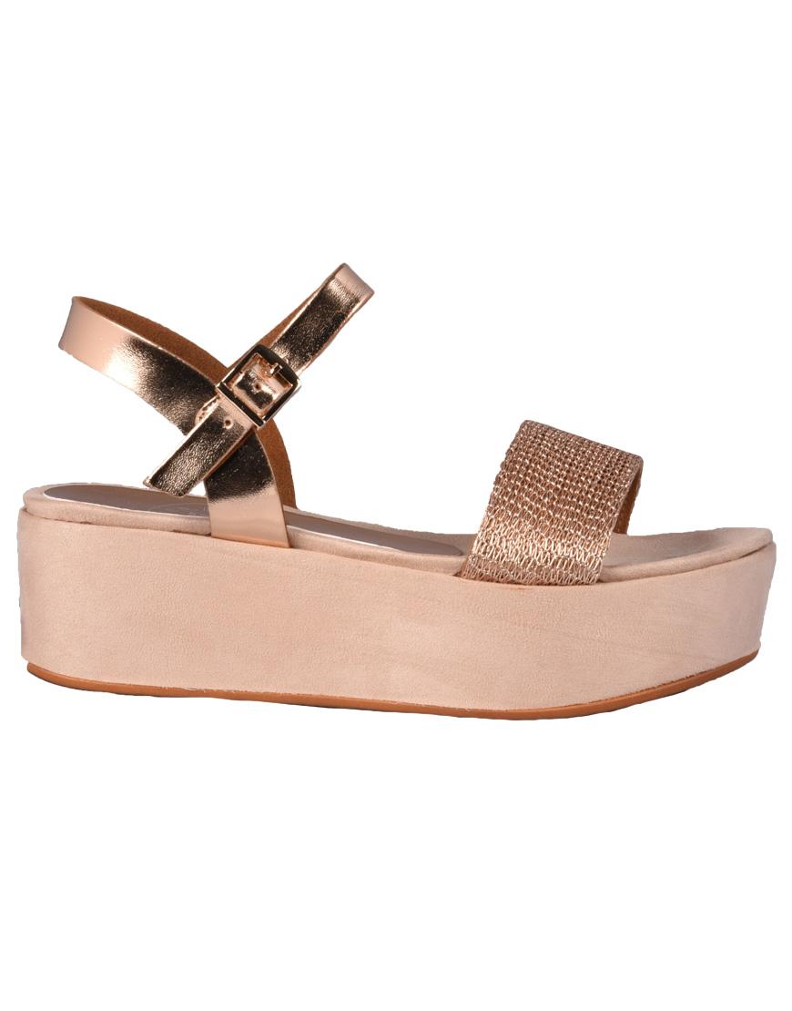 4966bc58217 Seven Shoes Πλατφόρμες Γυναικείες Champagne 17028-C G468Q820390 1686355