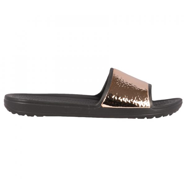 5aaac98ca1d Crocs Sloane Hammered Met Slide Γυναικείες Ανατομικές Σαγιονάρες Black/Rose  Gold 205135-08O 1686824