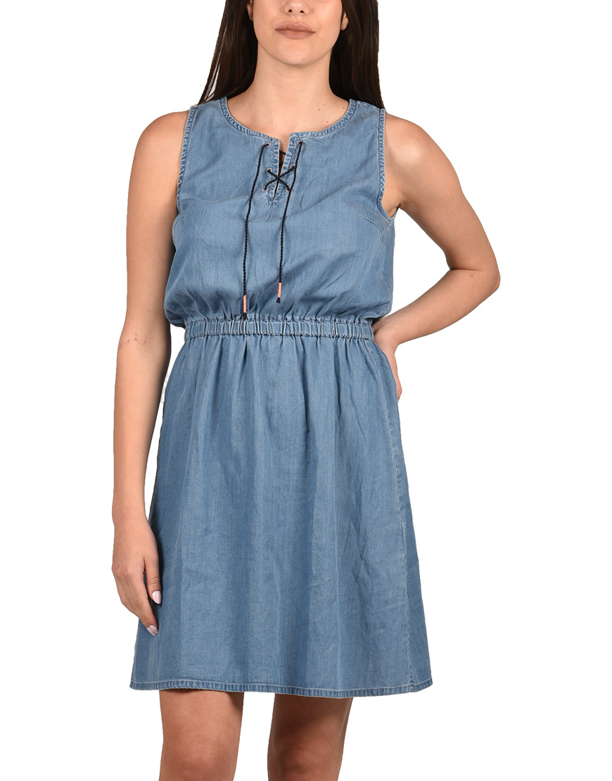 4c916deb4ae9 Tom Tailor Φόρεμα Γυναικείο Mid Stone Bright Blue Denim TT0AP1002649 1684201