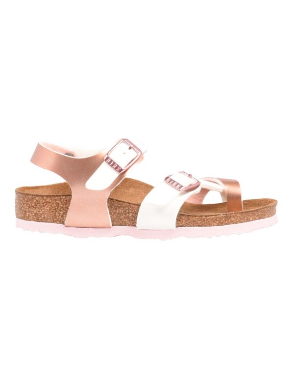 Birkenstock Taormina Σανδάλια Παιδικά Soft Metallics Rose White 1009499  1686585 9d8bf0d25a4