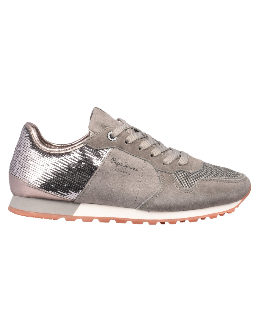 a895641da3 Pepe Jeans Verona New Sequins Sneakers Γυναικεία 925-Middle Grey PLS30717  1689652