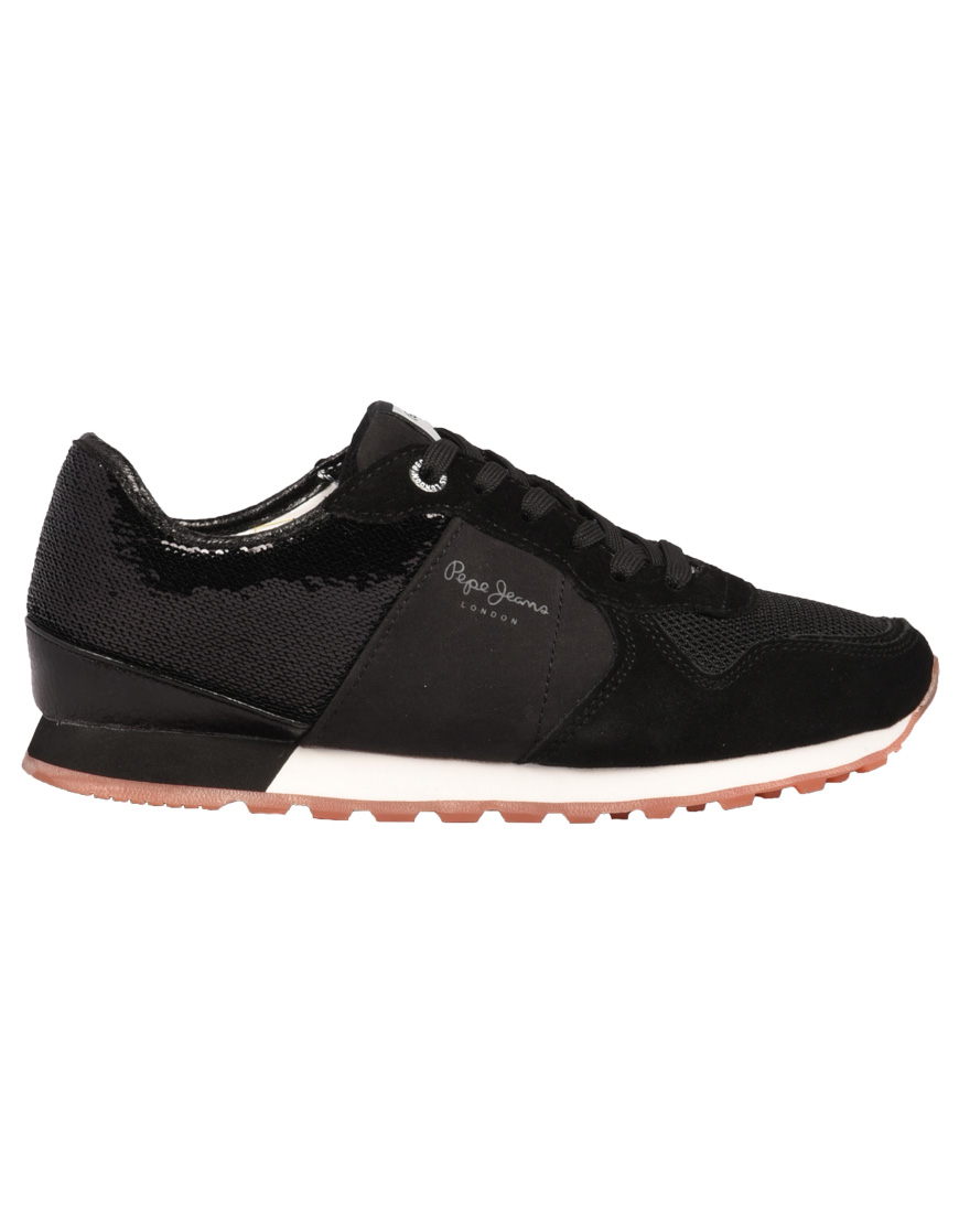 6c0d0db82c7 Pepe Jeans Verona New Sequins Sneakers 2 Γυναικεία 999-Black PLS30732  1689653