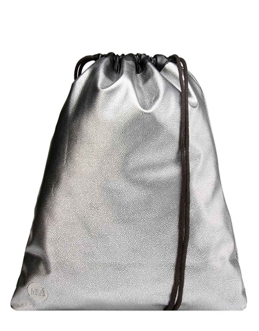 Mi-Pac Τσάντα Γυναικεία Gold Kit Bag Pebbled Silver-Black 740555-005 1720189 e1084140d57