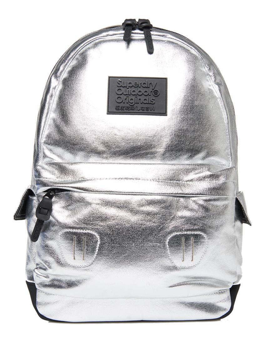3f4f9bde48 Superdry Τσάντα Γυναικεία Foiled Montana Silver G91004NQ 1685466 ...