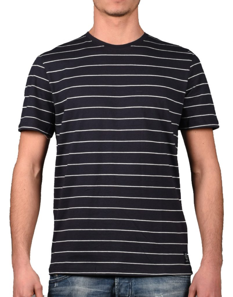 Tom Tailor T-Shirt Ανδρικό Navy Smoked Grey Block Stripe 1008646-16156  1722264  5cdd04a8c27