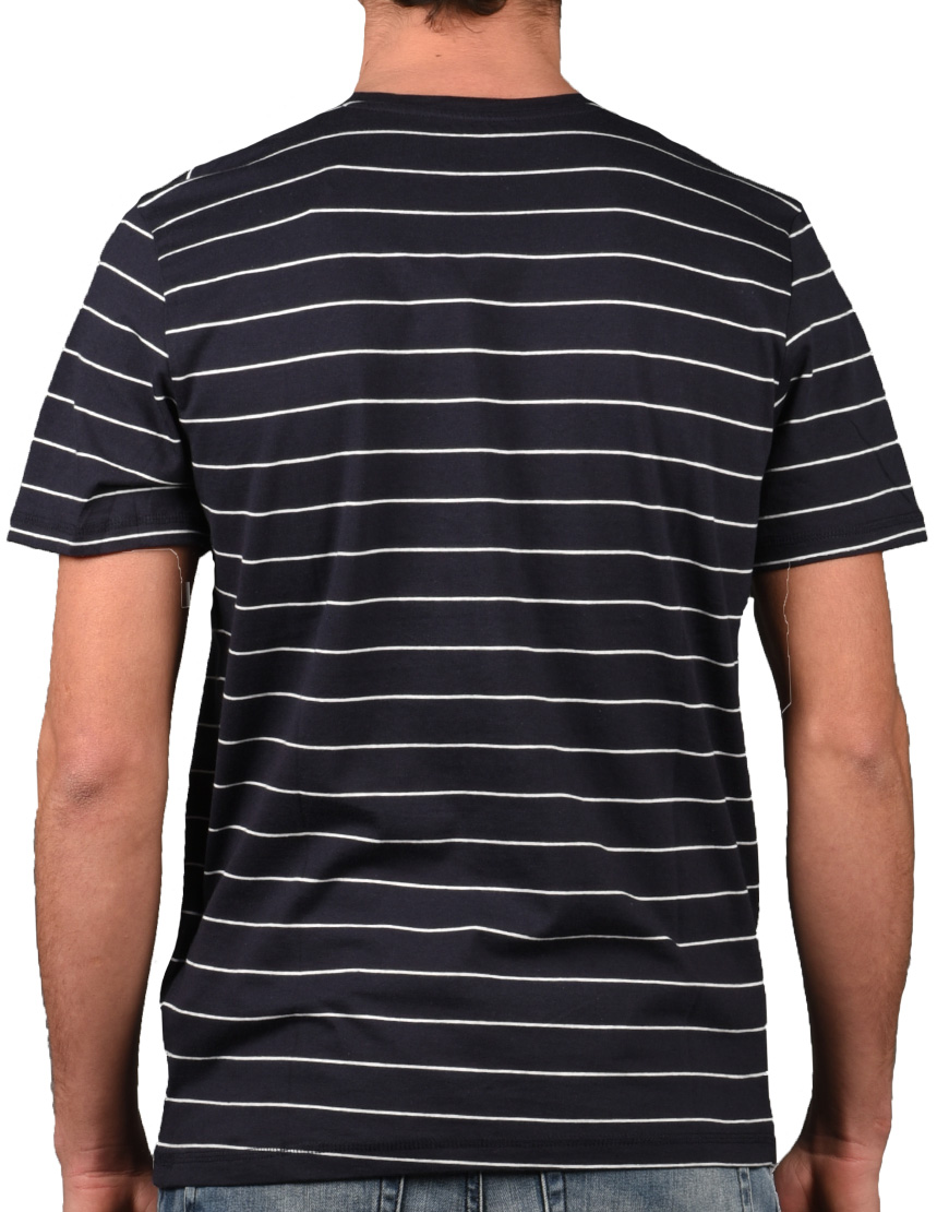 Tom Tailor T-Shirt Ανδρικό Navy Smoked Grey Block Stripe 1008646 ... b33d9430265