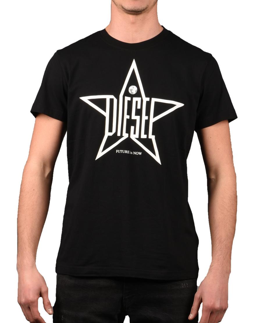 16dca443d942 Diesel T-Shirt Ανδρικό T-Diego-YH Black 00SRNE 0091A 900 1721922 ...