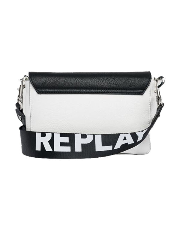 Replay Τσάντα Γυναικεία Optical White- Black FW3800.000.A0362-1213 1722168 e5ab5f8ca04