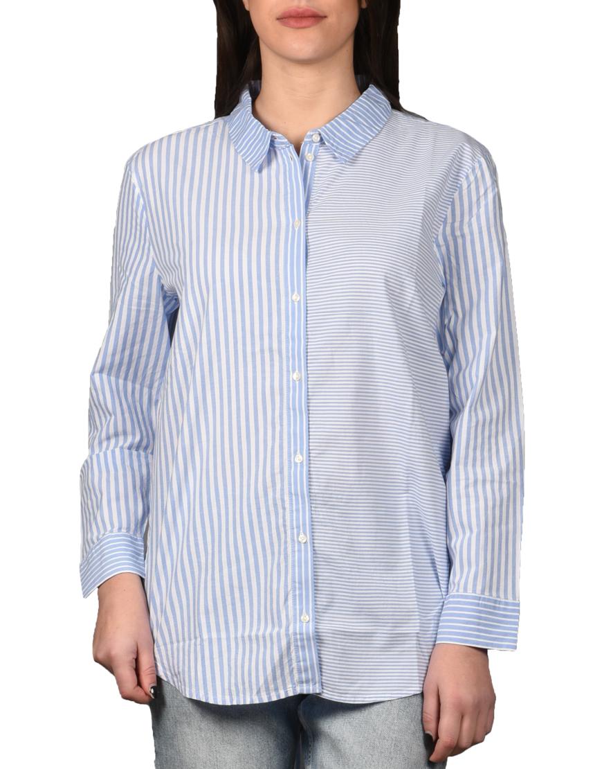 9b5cb7e81f74 Tom Tailor Πουκάμισο Γυναικείο Mid Blue White Vertical Stripe 1008280-15768  1722266