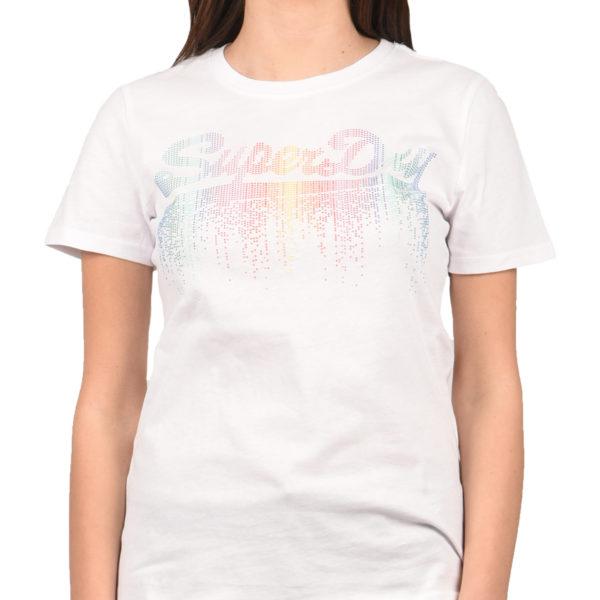 a1facff93e7 Superdry T-Shirt Γυναικείο Vintage Logo Cascade Entry Tee Optic  G10124ST-01C 1722581