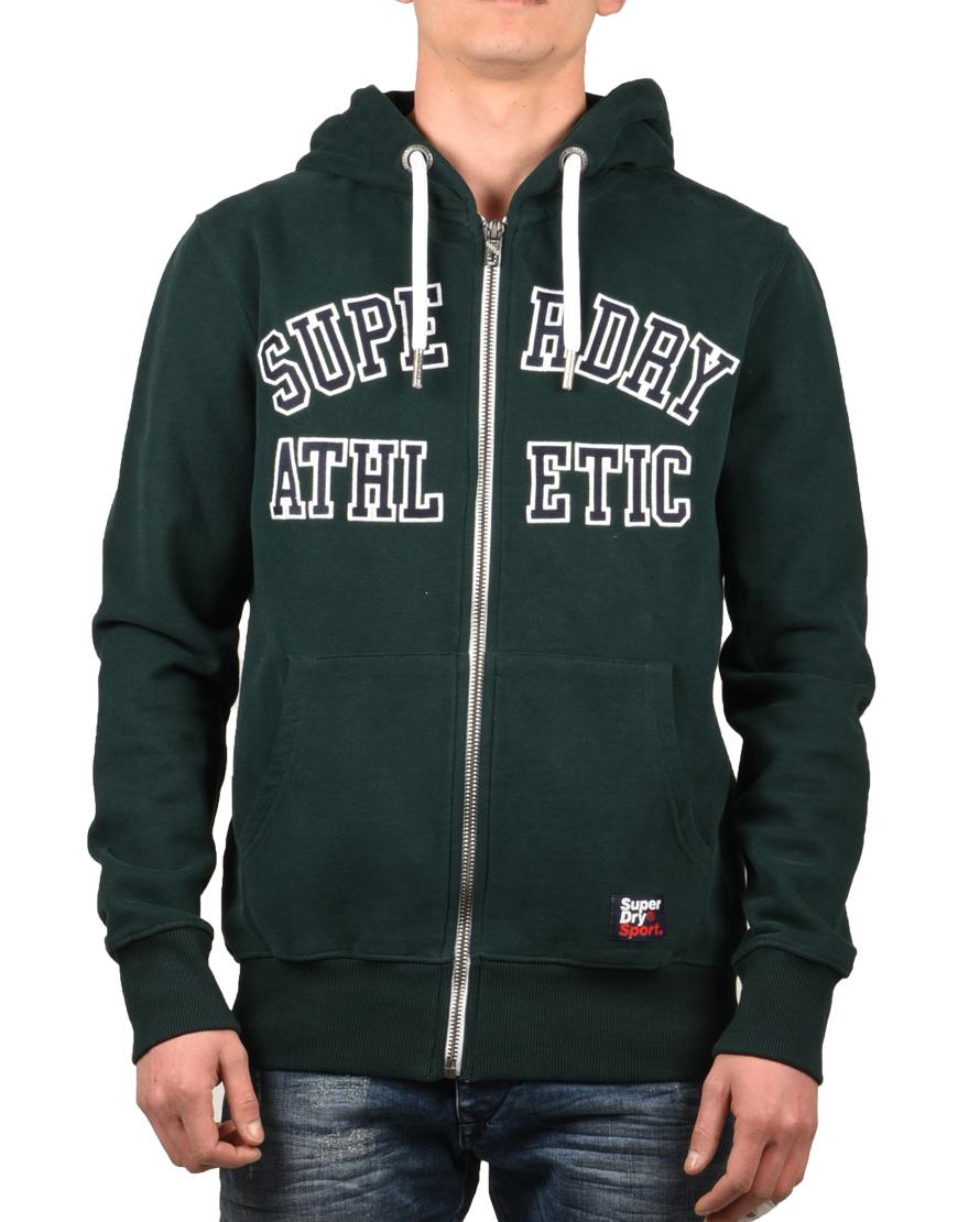 248b88e9f3f6 Superdry Ζακέτα Ανδρική Academy Sport Applique Zipthru Academy Green  M20033TR-XO9 1720962