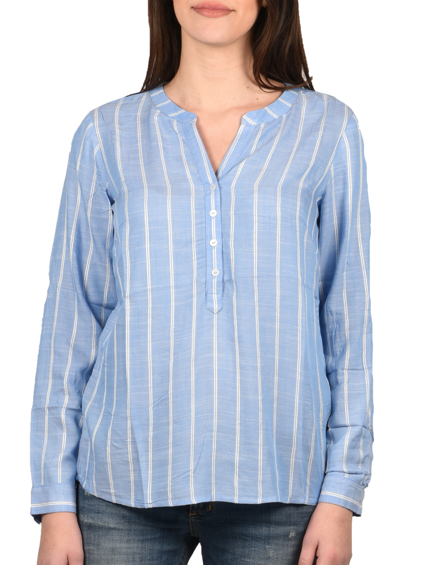 17358d8908b0 Tom Tailor Πουκάμισο Γυναικείο Blue Stripe Vertical 1009257-16464 1722622