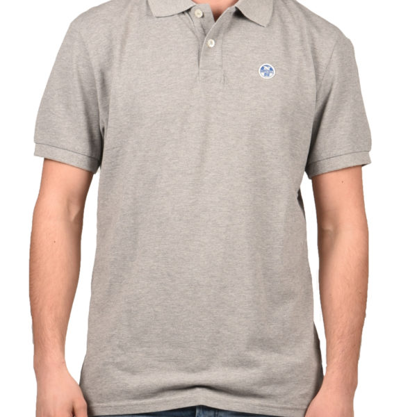 North Sails Polo T-Shirt Ανδρικό Grey Melange AP6921360 1722664 a8ceb489ffc