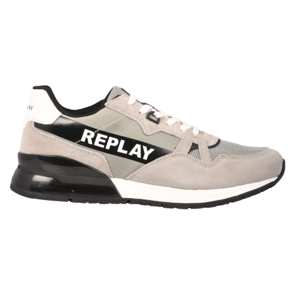 5443c7316a0 Replay Sneakers Ανδρικά Dawros Lace Up Grey Black GMS1C.000.C0002L-624  1722178