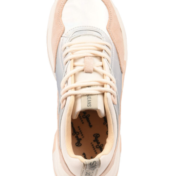e1006526846 Pepe Jeans Sneakers Γυναικεία Sinyu Reflect Sliver PLS30872-934 1723370